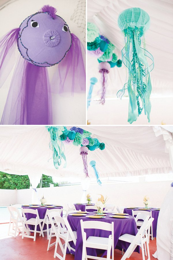DIY hanging under the sea birthday party decor