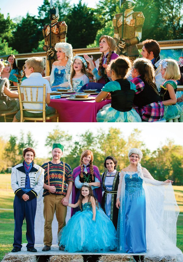 frozen birthday party characters to hire