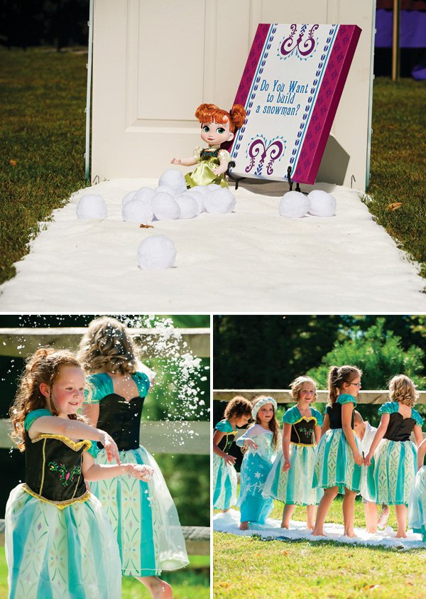 do you want to build a snowman frozen party activity