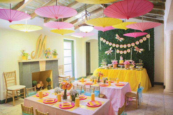 garden honeybee birthday party ideas