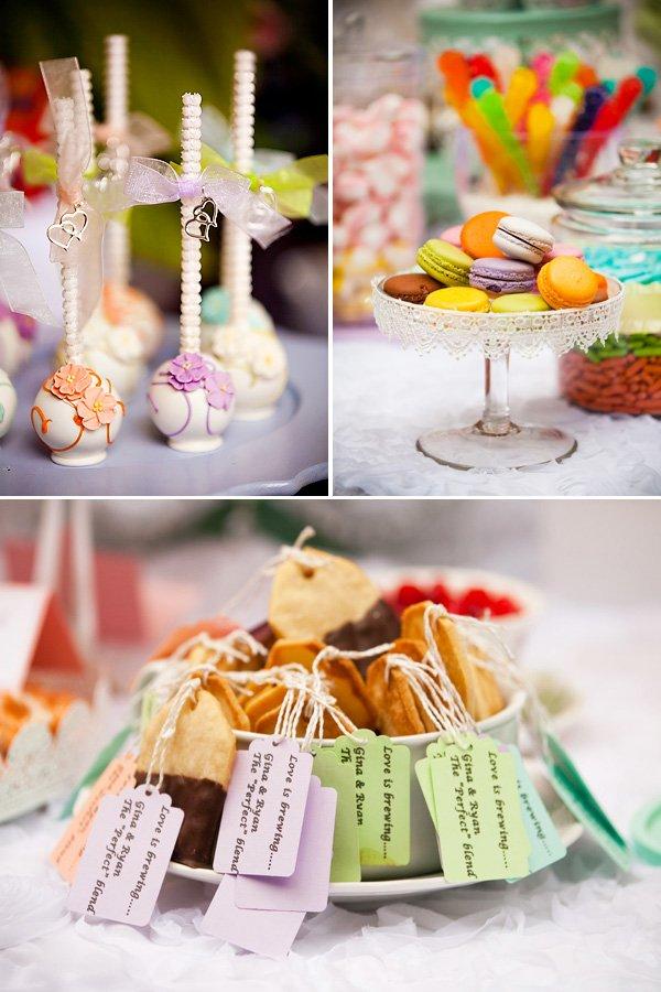 tea party bridal shower desserts