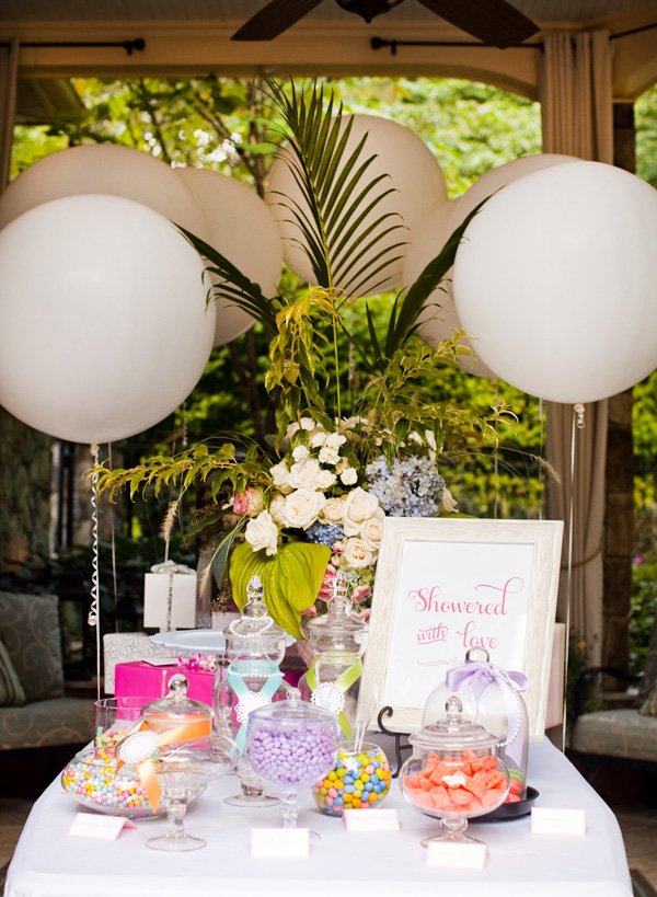 bridal shower candy buffet