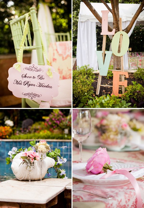 garden bridal shower decorations