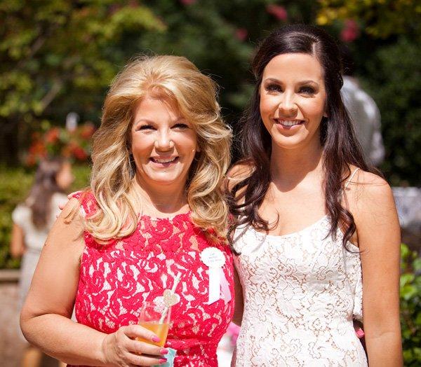 bridal shower - bride and mom dresses