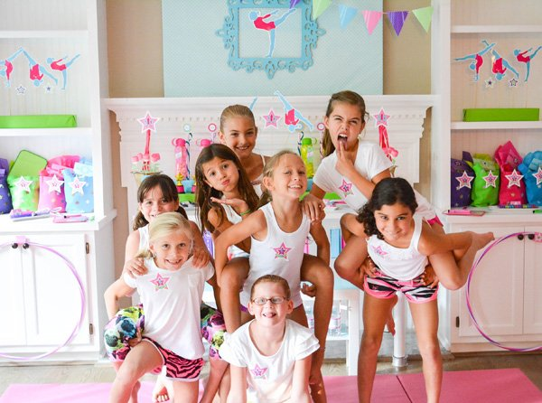 gymnastics party girls
