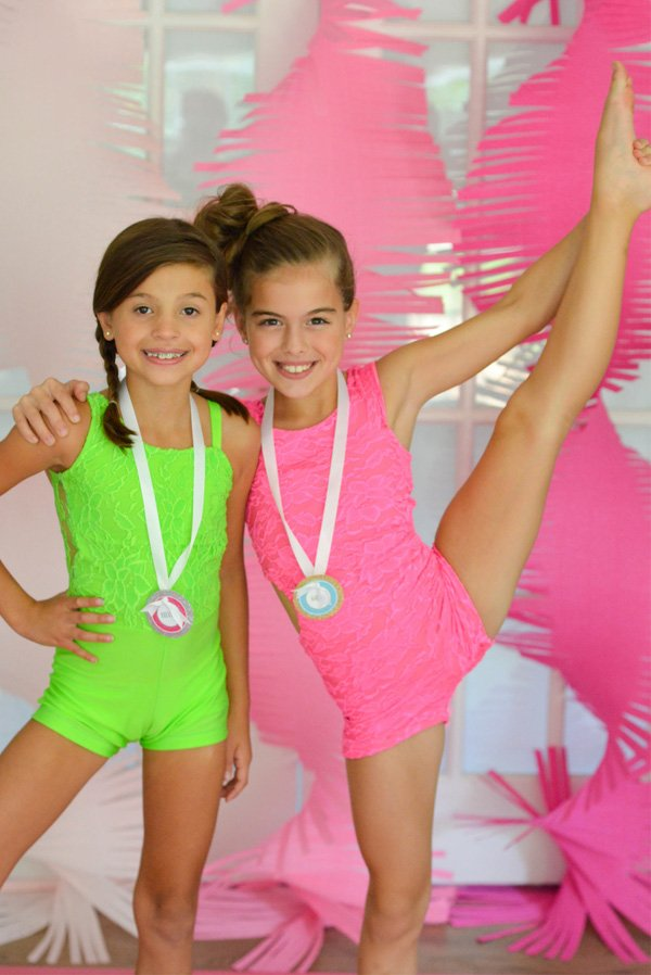 gymnastics party outfits