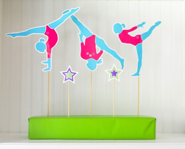 gymnastics party silhouettes