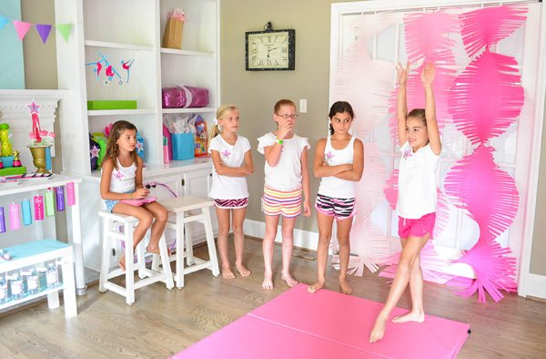 gymnastics party activities