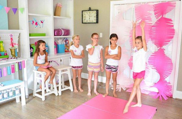 gymnastics party activities