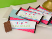 gymnastics chocolate bar wrappers