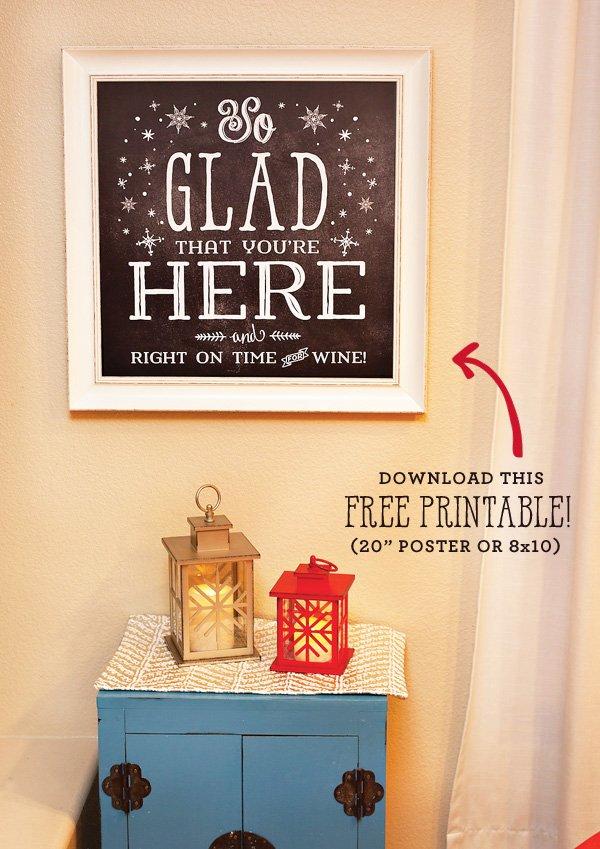 free printable holiday poster