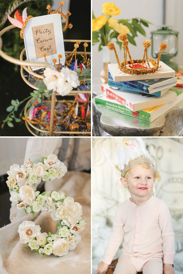DIY pipe cleaner party crowns and flower letters