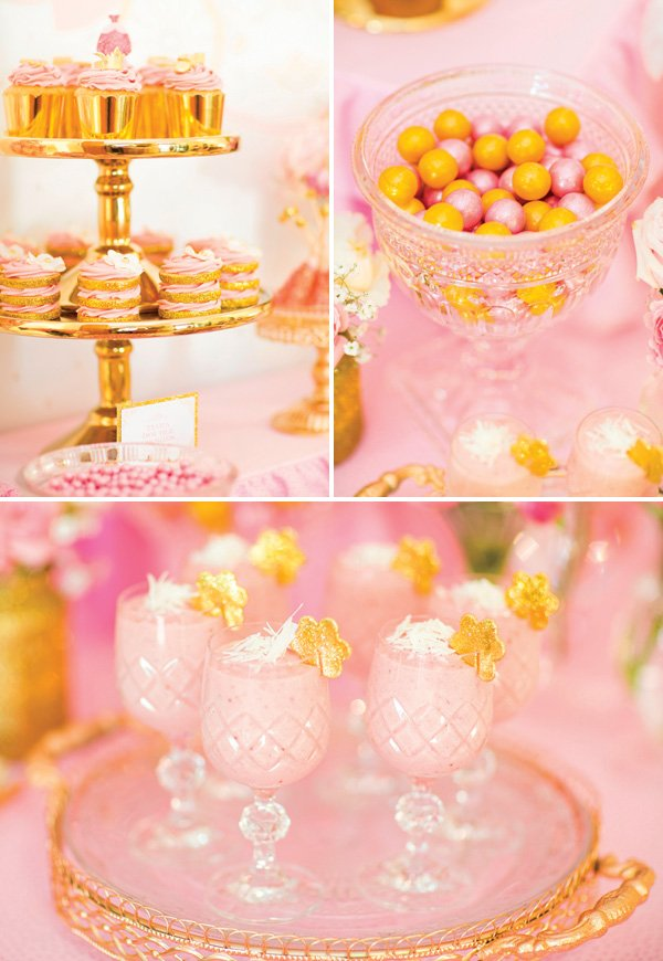 royal princess party dessert table ideas