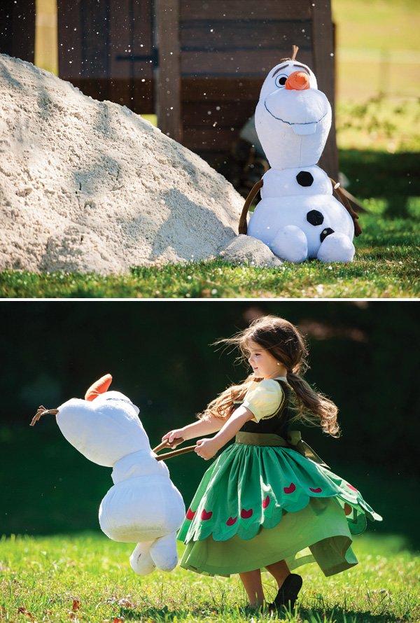 stuffed Olaf snowman toy