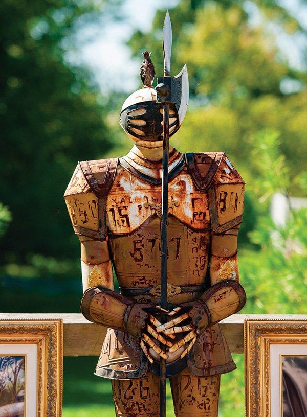 suit of armor party decor
