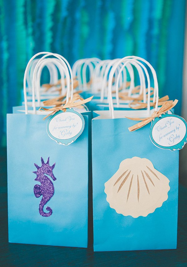 under the sea birthday party favor bags