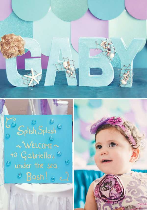 girl's under the sea first birthday party