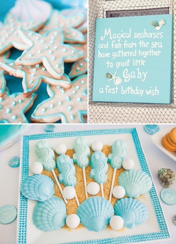 under the sea birthday party desserts