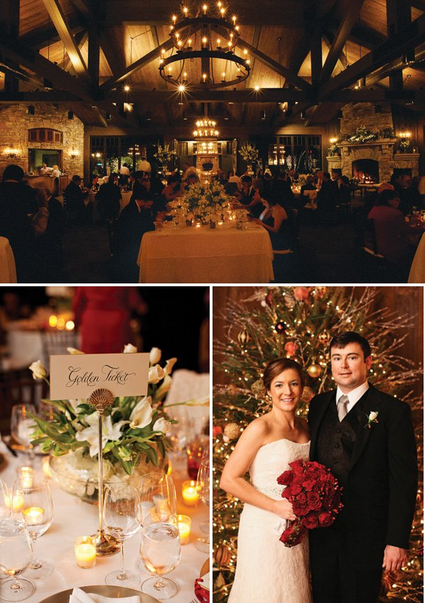 warm christmas wedding tablescape ideas