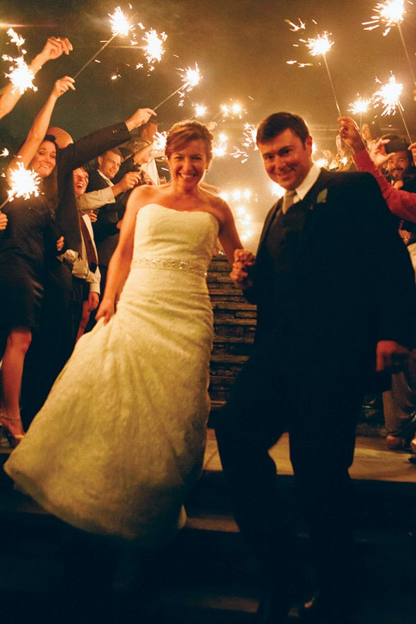 wedding sparklers tunnel idea