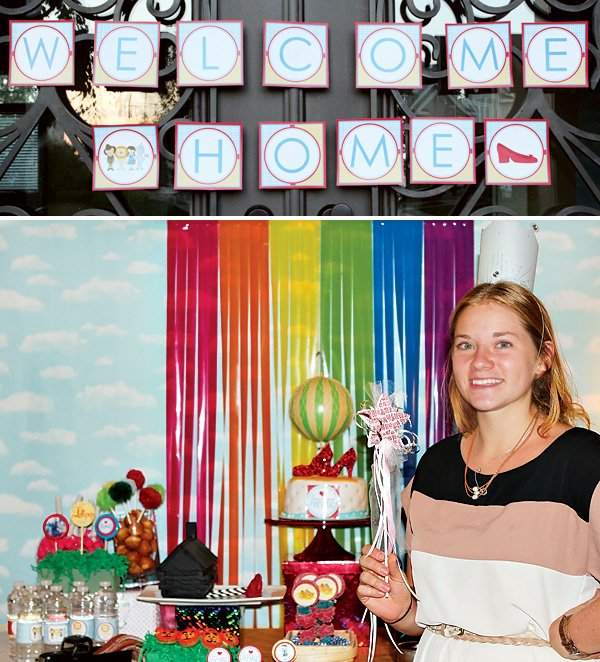 wizard of oz themed welcome home party