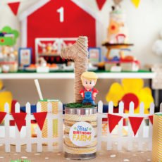 Little People inspired Farm First Birthday