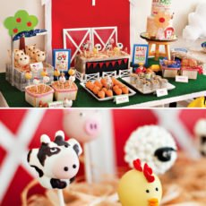 farm birthday party dessert table ideas