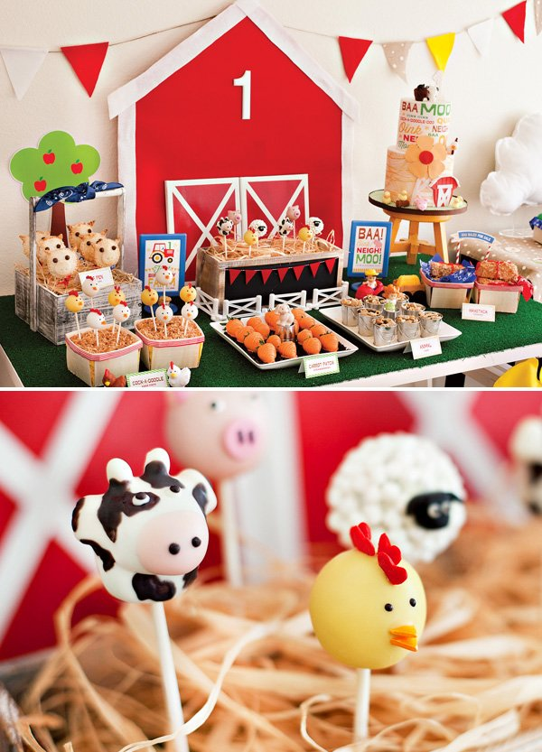 farm birthday party dessert table ideas