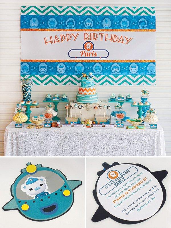 Octonauts Birthday Party Dessert Table