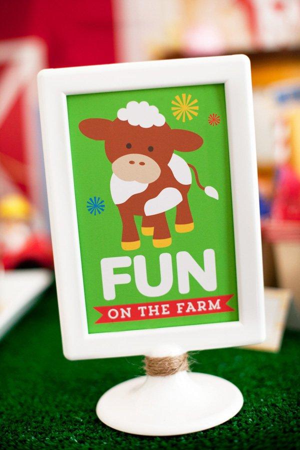 farm birthday party signs