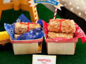 farm party hay bale cakes