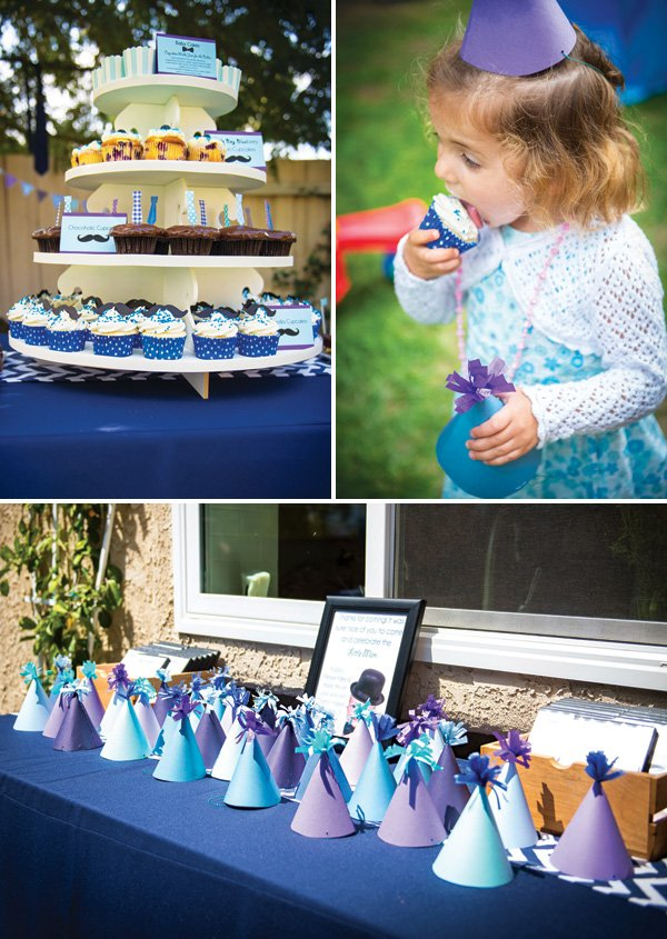 purple and blue diy kids party hats