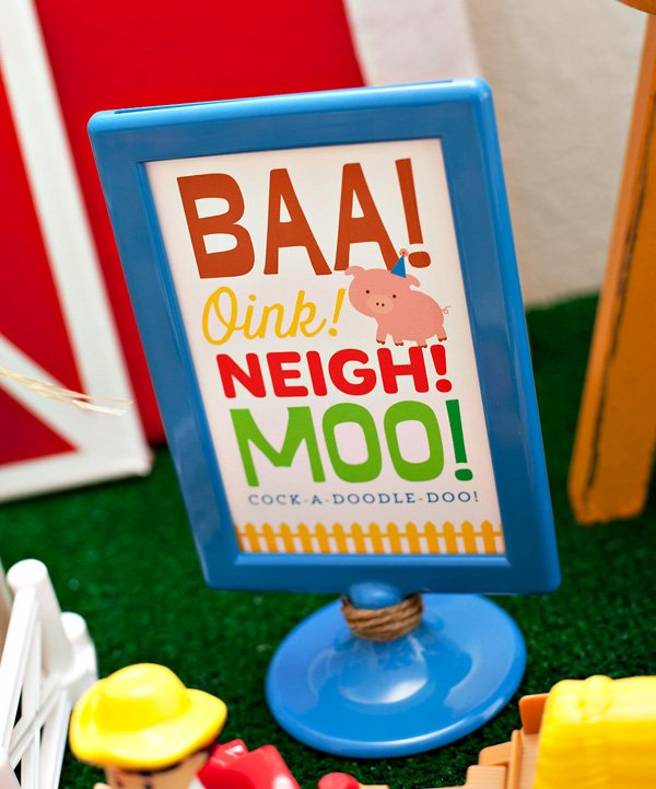 farm animal birthday party signs