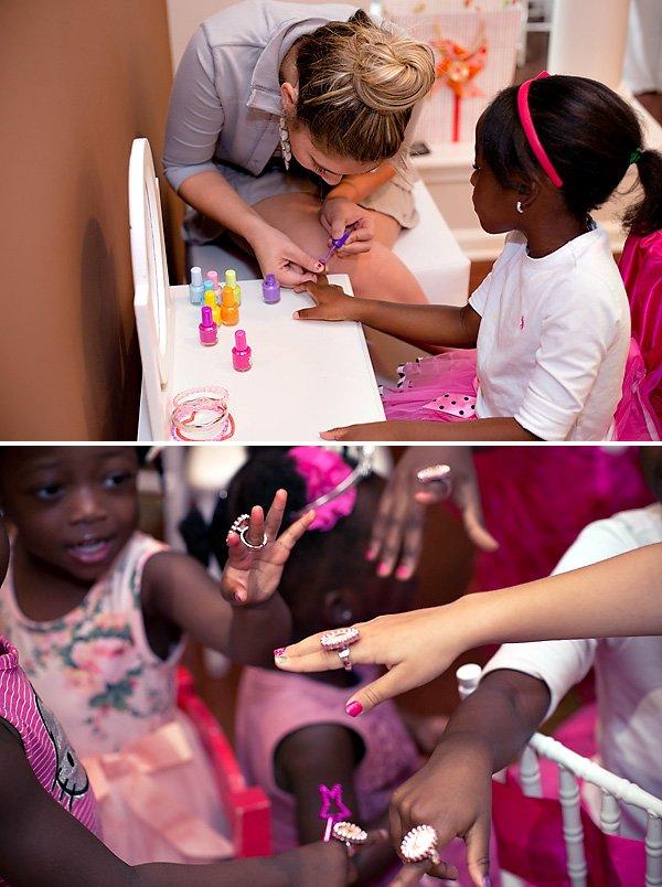 princess party manicures