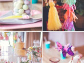 beautiful boho chic party decorations