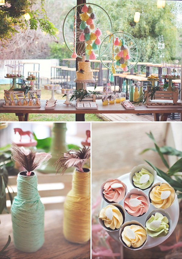 boho chic birthday party decorations