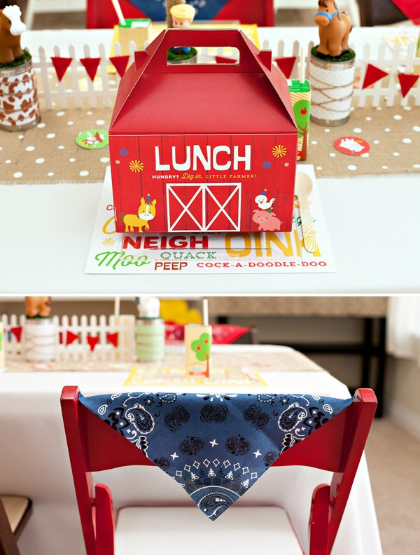 farm party - barn lunch gable boxes
