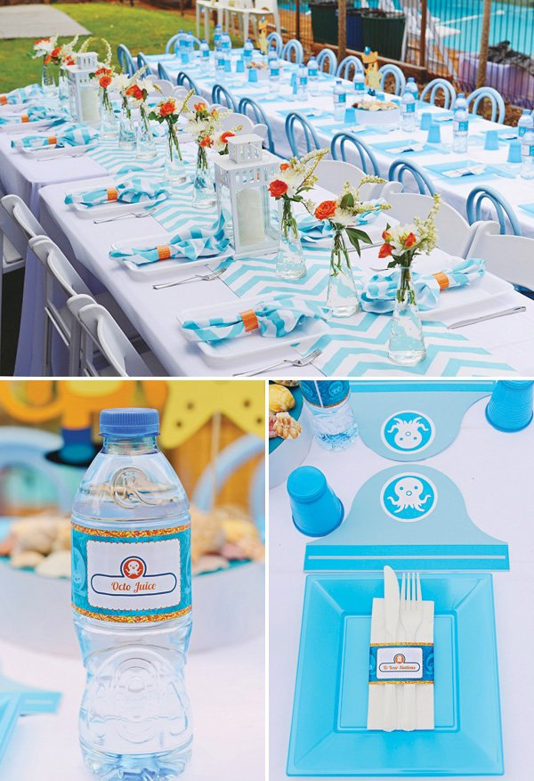 Octonauts party tables