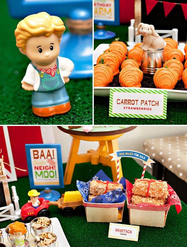 farm birthday party dessert ideas
