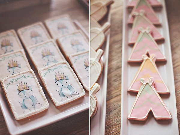 boho chic party cookies