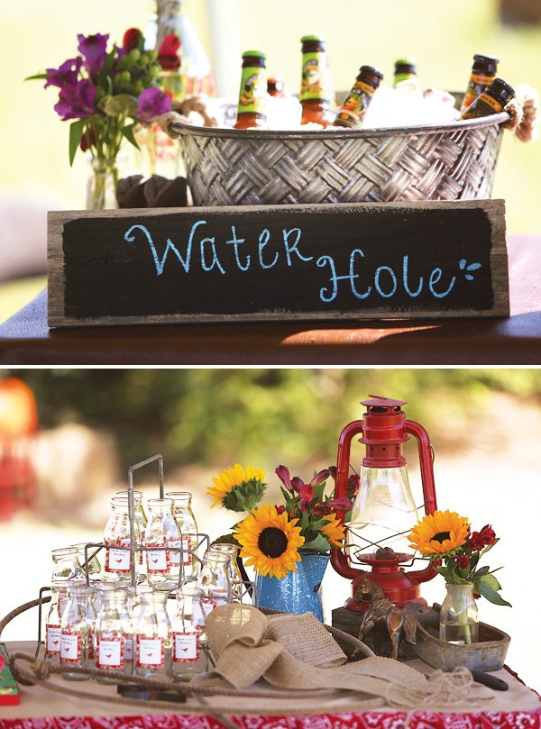 cowgirl party watering hole drink station