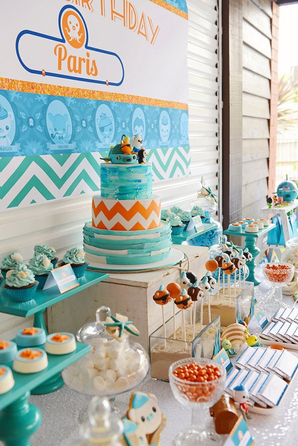 bright stylish octonauts inspired birthday party. Black Bedroom Furniture Sets. Home Design Ideas