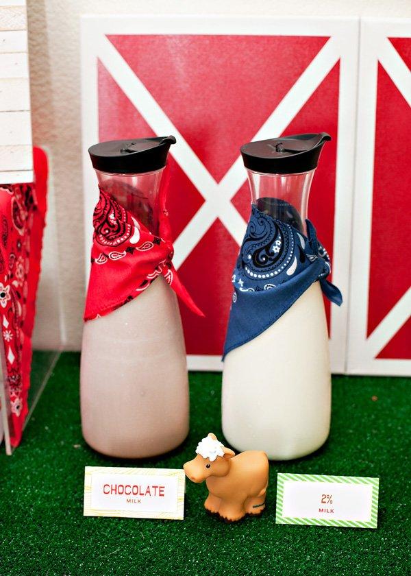farm party milk carafes