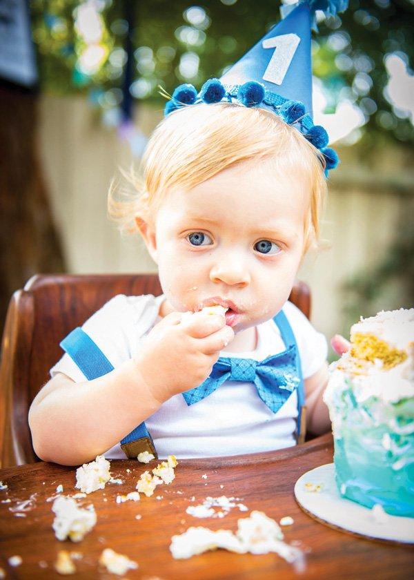 little man bow tie first birthday smash cake
