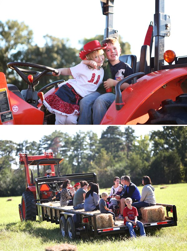 cowgirl party tractor hay ride