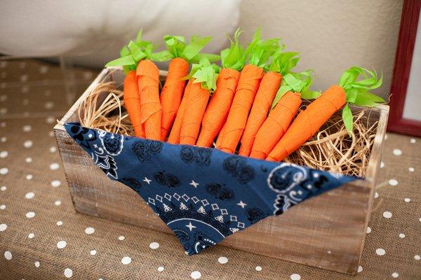 diy crepe paper carrots