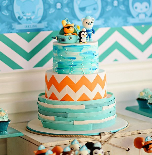 Bright Stylish Octonauts Inspired Birthday Party Hostess with