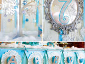 winter snowflake birthday party decorations