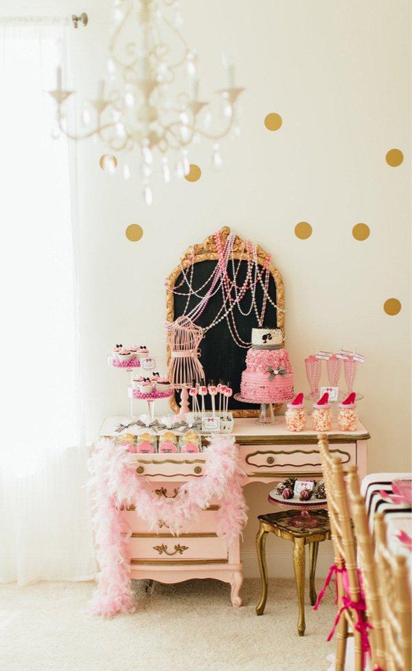 barbie spa table