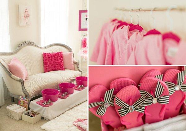 barbie spa setup